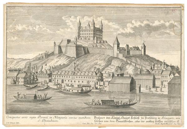 Friedrich Bernhard Werner, Martin Engelbrecht – Pohľad na Bratislavský hrad z juhu