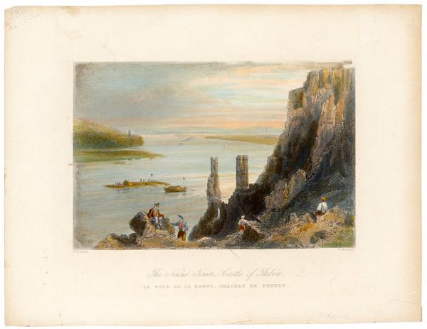 W. Mossman, William Henry Bartlett - Pohľad na hrad Devín - Panenská veža