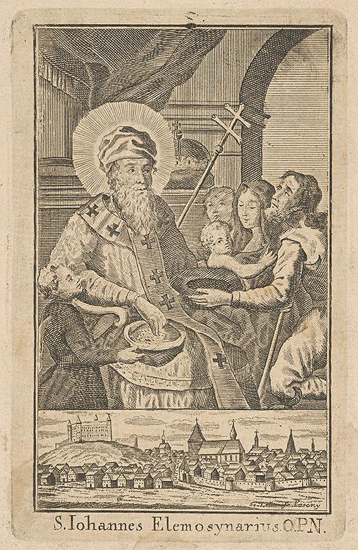 Sebastian Zeller – Johannes Elemosynarius a pohľad na Bratislavu z juhu