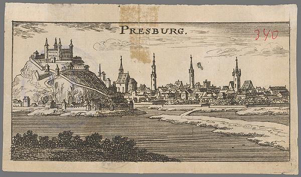 Stredoeurópsky grafik z 2. polovice 17. storočia – Bratislava v 17. storočí - pohľad z juhu