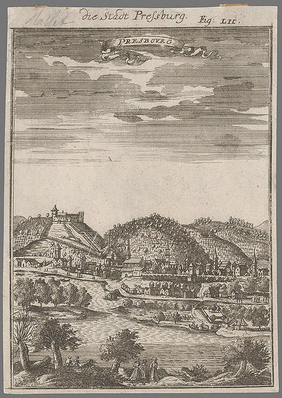 Stredoeurópsky autor z konca 17. a začiatku 18.storočia - Bratislava - pohľad z juhu