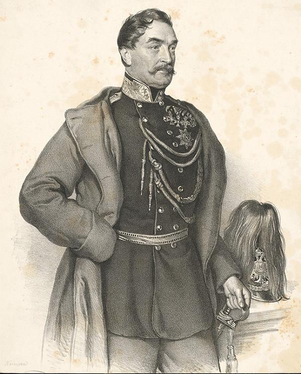 Joseph Kriehuber - Portrét Johanna Franza baróna Kempen von Fichtenstamm