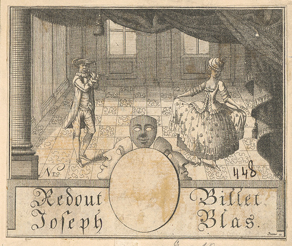 Gottfried Prixner - Vstupenka na jozefovský ples v roku 1796