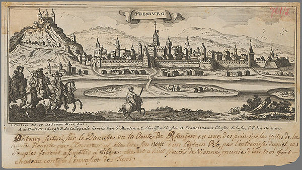 Jacob Peeters – Bratislava z juhu