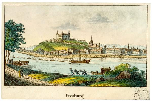 Georg Adam – Bratislava v 19. storočí - pohľad z juhu