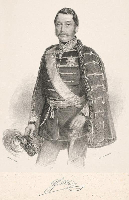 August Strixner – Portrért grófa Álmásyho