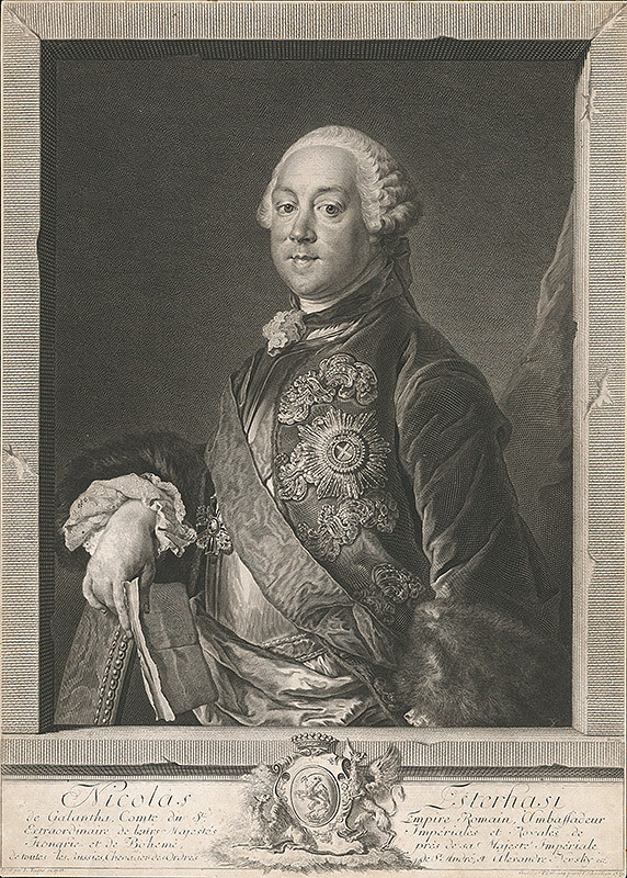 Georg Friedrich Schmidt, Louis Tocqué - Portrét Mikuláša Esterházyho