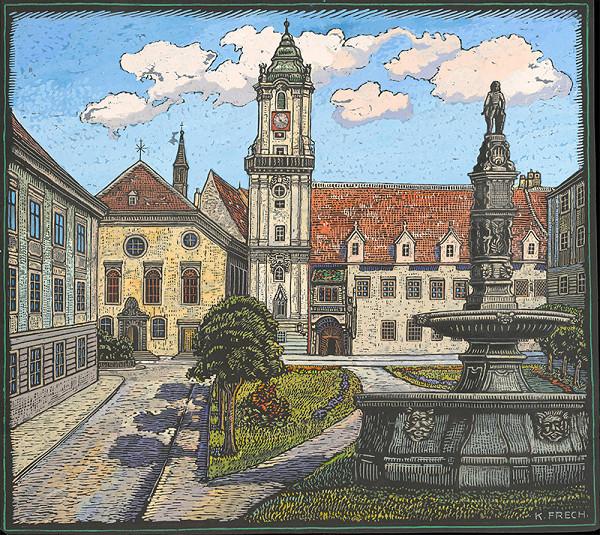 Karol Frech - Radničné námestie v Bratislave