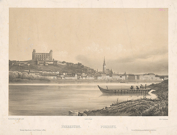 Franz Josef Sandmann, Jakob Alt - Bratislava z juhu