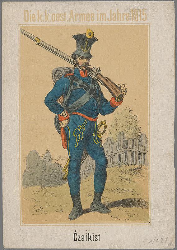 Stredoeurópsky grafik z 1. polovice 19. storočia - Vojak