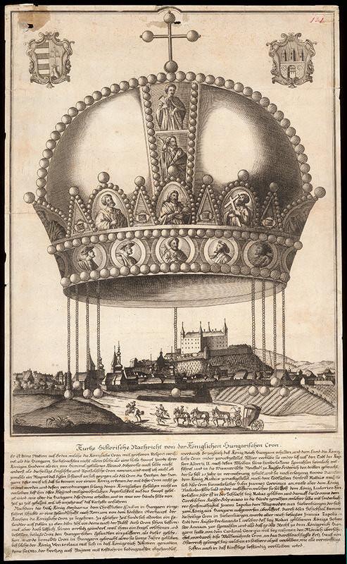 Stredoeurópsky grafik z 18. storočia – Uhorská koruna