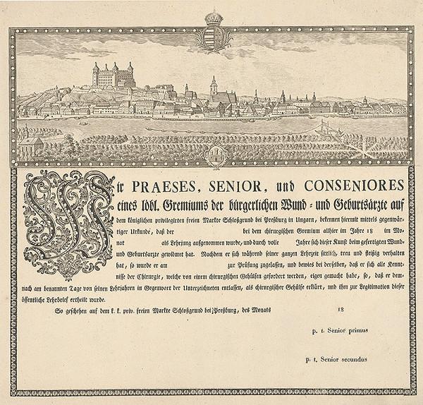 Ignac von Müller – List bratislavských chirurgov