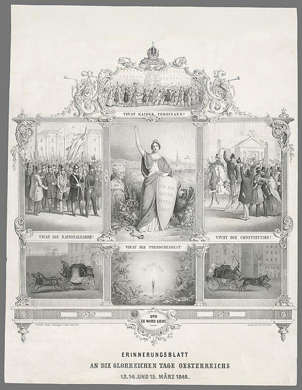 Franz Wolf – Pamätná listina na slávny deň Rakúska 15.3. 1848