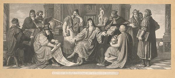 Giuseppe Marastoni, Károly Lotz – Kráľ Matej v kruhu svojich umelcov a vedcov