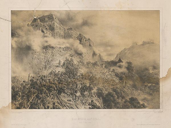 August von Pettenkofen - Útok na Ofen