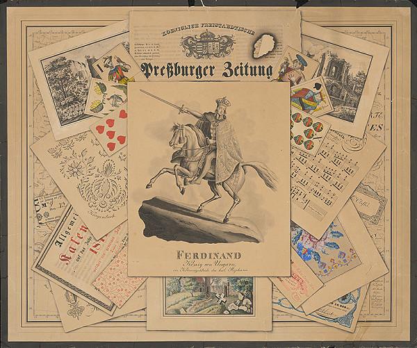 Stredoeurópsky grafik z 1. polovice 19. storočia - Pamätný list na kráľa Ferdinanda