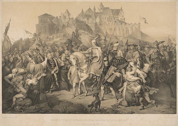 Henrik Weber, Franz Seraph Hanfstaengl - Príchod kráľa Mateja do Budína