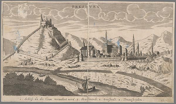 Stredoeurópsky grafik zo 17. storočia - Bratislava - pohľad z juhu