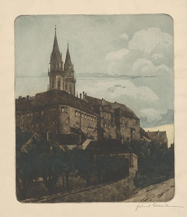 Stredoeurópsky grafik z 19. storočia - Pohľad na Kutnú Horu