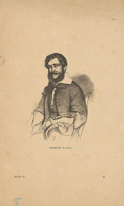 Stredoeurópsky grafik z 19. storočia – Portrét Ľudovíta Kossutha