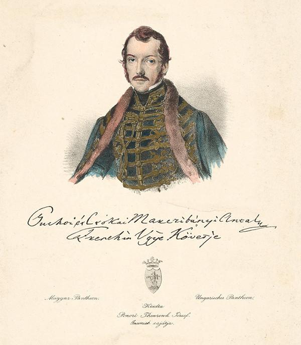 Stredoeurópsky grafik z 19. storočia – Portrét Antona Manczibányiho
