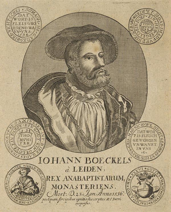 Stredoeurópsky grafik zo 16. storočia – Portrét Jána Boeckelsa