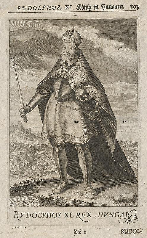 Stredoeurópsky grafik z 18. storočia - Portrét Rudolfa II.