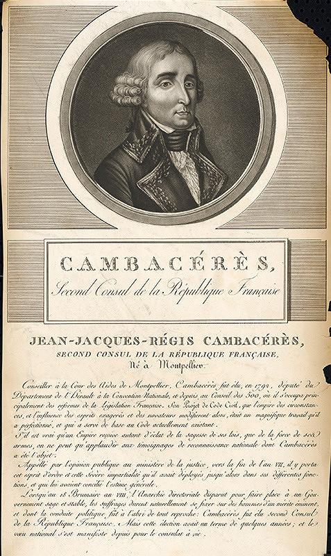 Stredoeurópsky grafik z 18. storočia – Portrét Jána Jakuba Cambacéresa