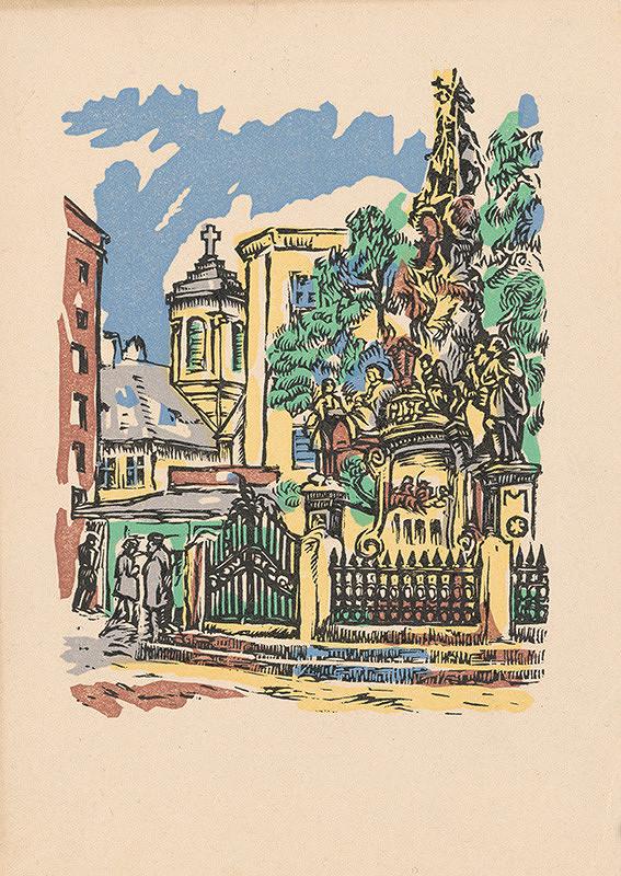 Stredoeurópsky grafik z 1. polovice 20. storočia - Súsošie sv. Floriána v Bratislave