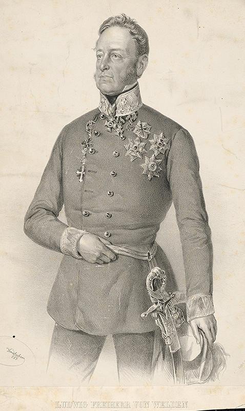 Joseph Kriehuber - Portrét Ľudovíta Freihera