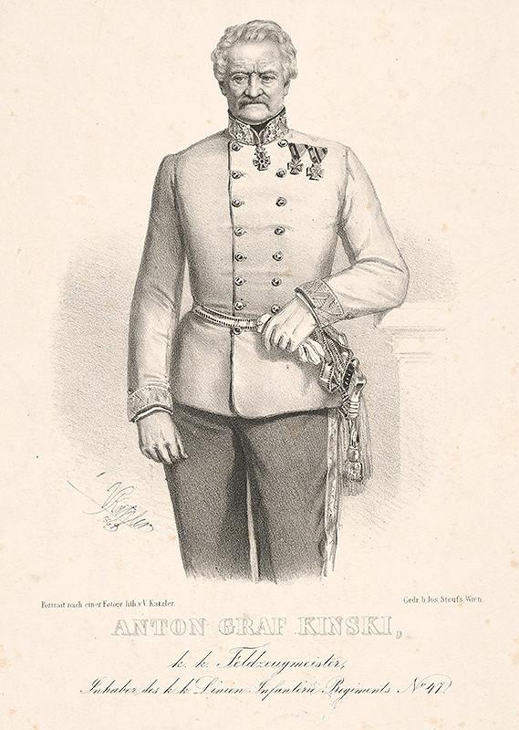 Vincenz Katzler – Portrét grófa Antona Kinského