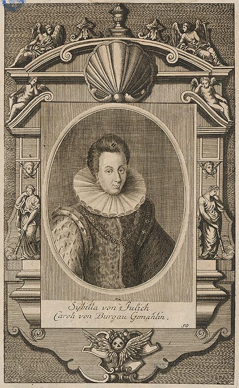 Stredoeurópsky grafik zo 16. storočia - Portrét Sybilly von Jülich-Kleve-Berg