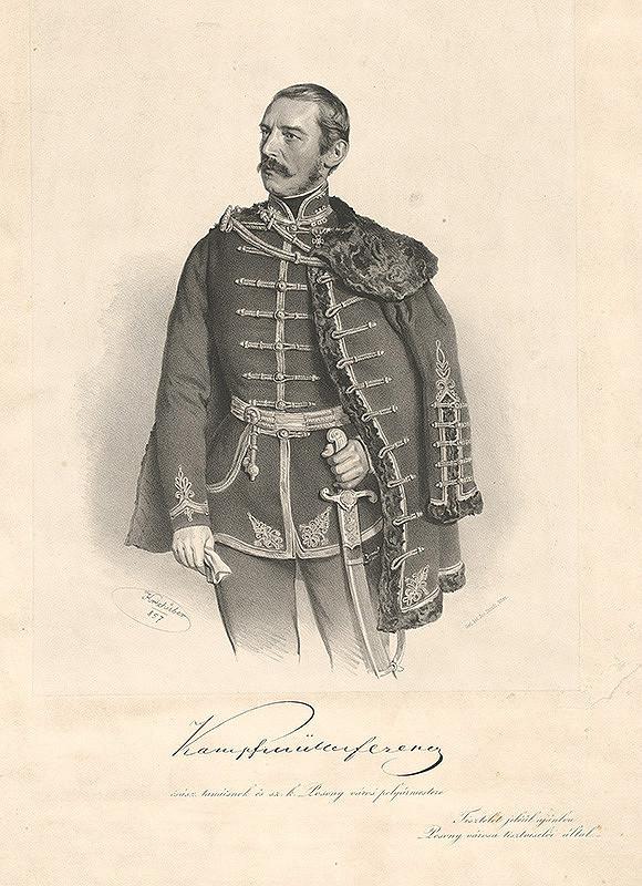 Joseph Kriehuber - Portrét Františka Kampfmüllera