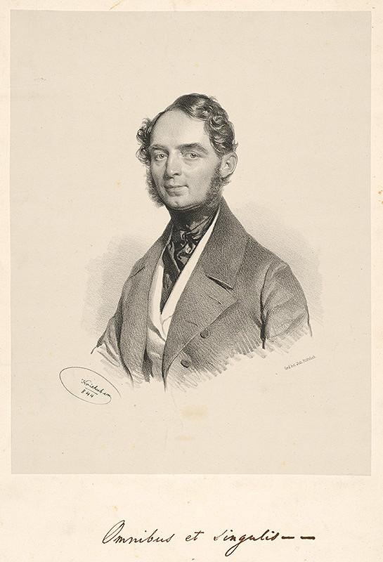 Joseph Kriehuber - Portrét dr.Antona Nehrera