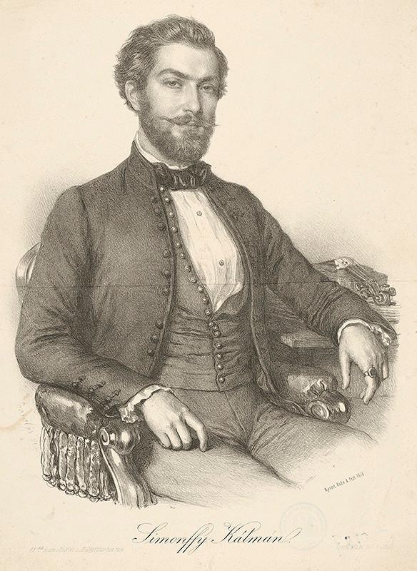 Miklós Barabás – Portrét Kolomana Simonffyho