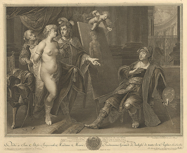 Ján Jakub Müller, Govaert Flinck – Alexander Veľký u Appela
