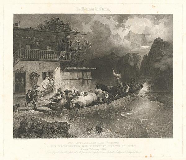 Johann Passini, Friedrich Gauermann - Návrat v búrke