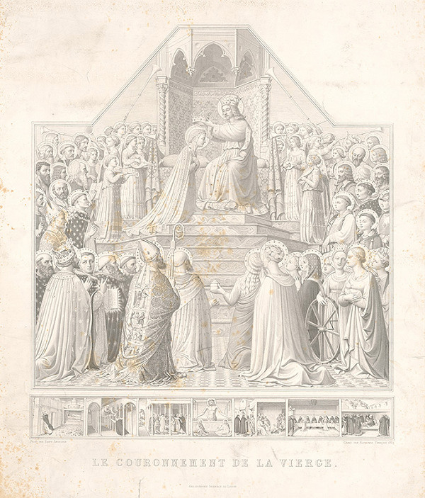Alphonse Francois, Fra Angelico - Korunovanie Panny Márie
