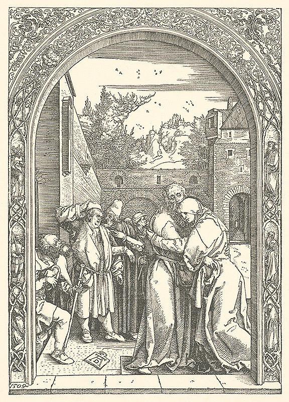 Albrecht Dürer - Stretnutie Joachima a Anny pri Zlatej bráne (3)