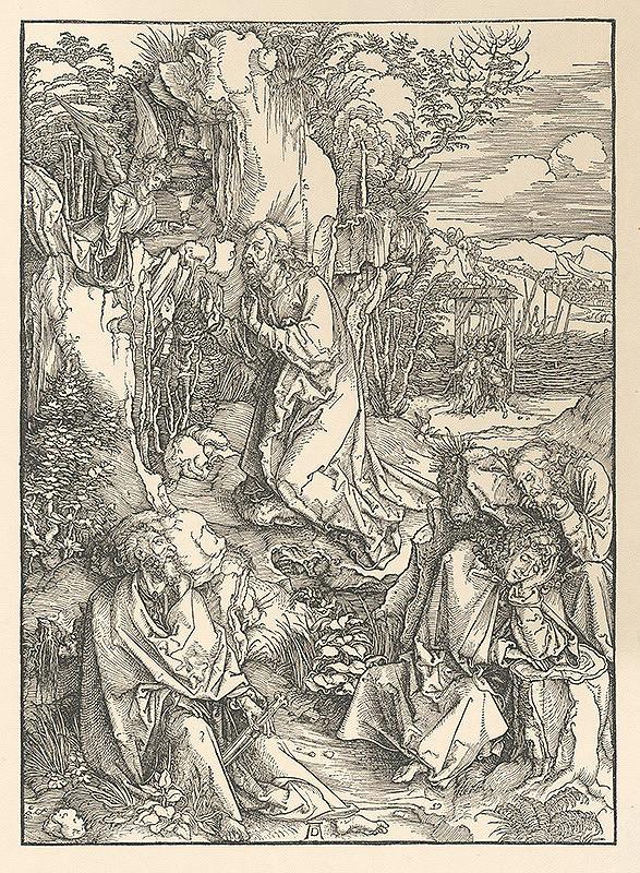 Albrecht Dürer - Ježiš na hore Olivovej