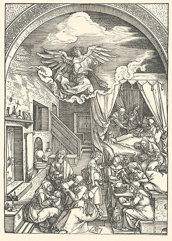 Albrecht Dürer – Narodenie Panny Márie (4)