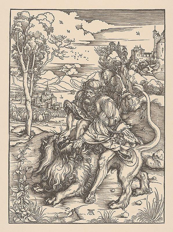 Albrecht Dürer – Samson bojuje s levami