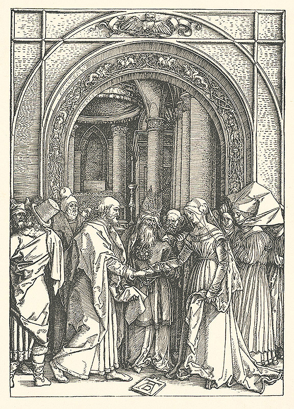 Albrecht Dürer – Zasnúbenie Panny Márie (6)