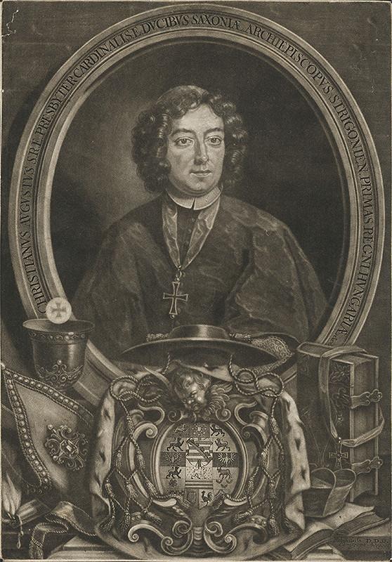 Christoph Weigel st. – Portrét arcibiskupa Christiána Augusta Saského