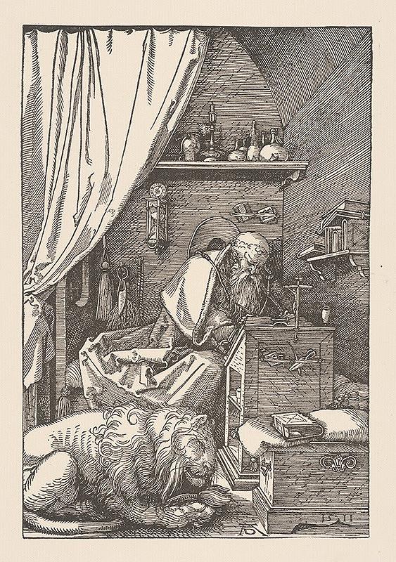 Albrecht Dürer - Sv. Hieronym v cele