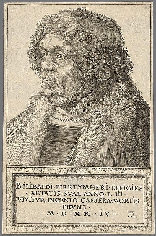 Albrecht Dürer - Portrét Bilibalda Pirkeymhera
