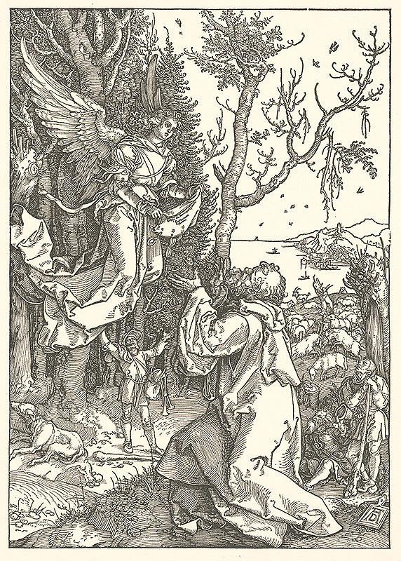 Albrecht Dürer - Zjavenie anjela Joachimovi (2)
