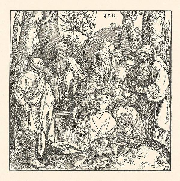 Albrecht Dürer – Sväté príbuzenstvo s anjelmi