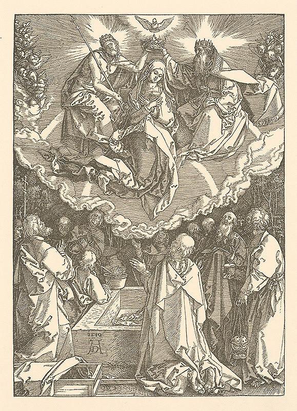 Albrecht Dürer - Korunovanie Panny Márie (18)