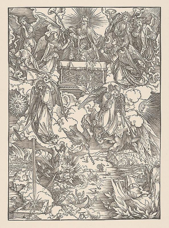 Albrecht Dürer – Ohnivý dážď a sedem anjelov